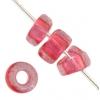 Glass Rings 32/0 Transparent Dark Pink Solgel